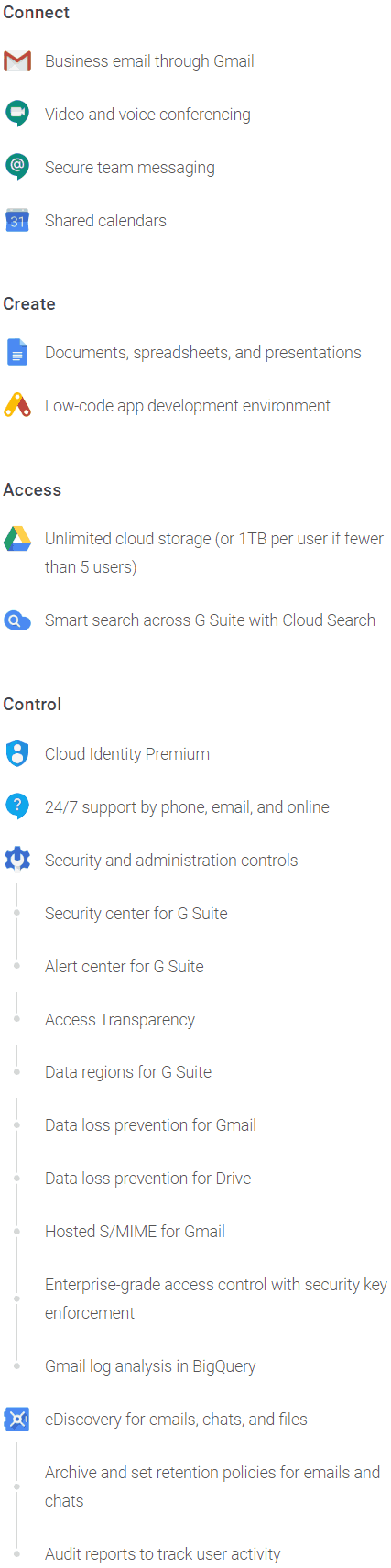 G Suite Enterprise Features