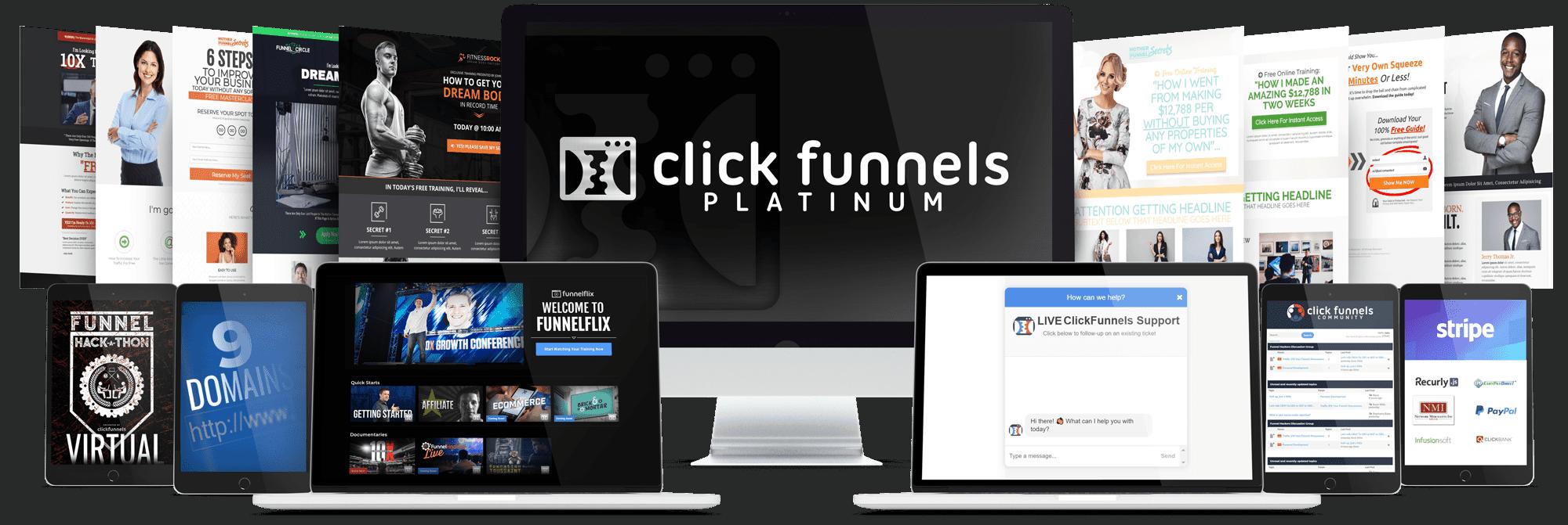 ClickFunnels Platinum Review Mockup