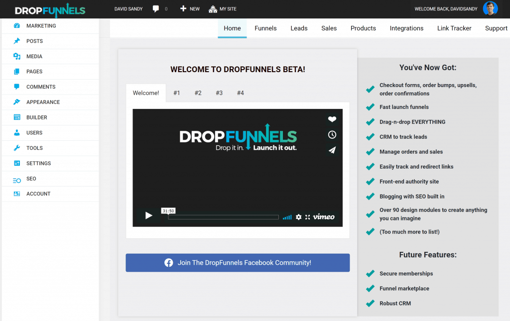 DropFunnels Dashboard