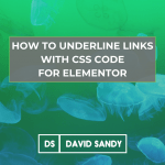 How to underline links with css code for Elementor