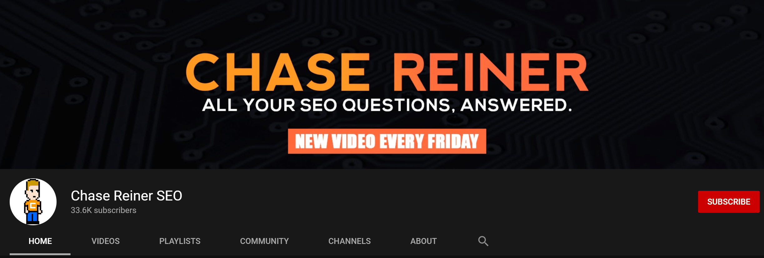Chase Reiner SEO Youtube Channel