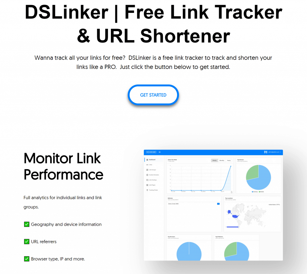 DSLinker - Free URL Shortener With Custom Domains