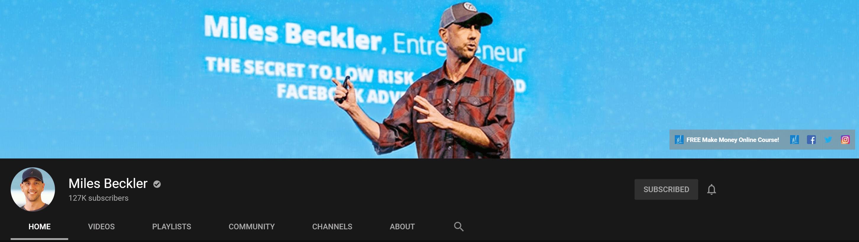 Miles Beckler Youtube Channel