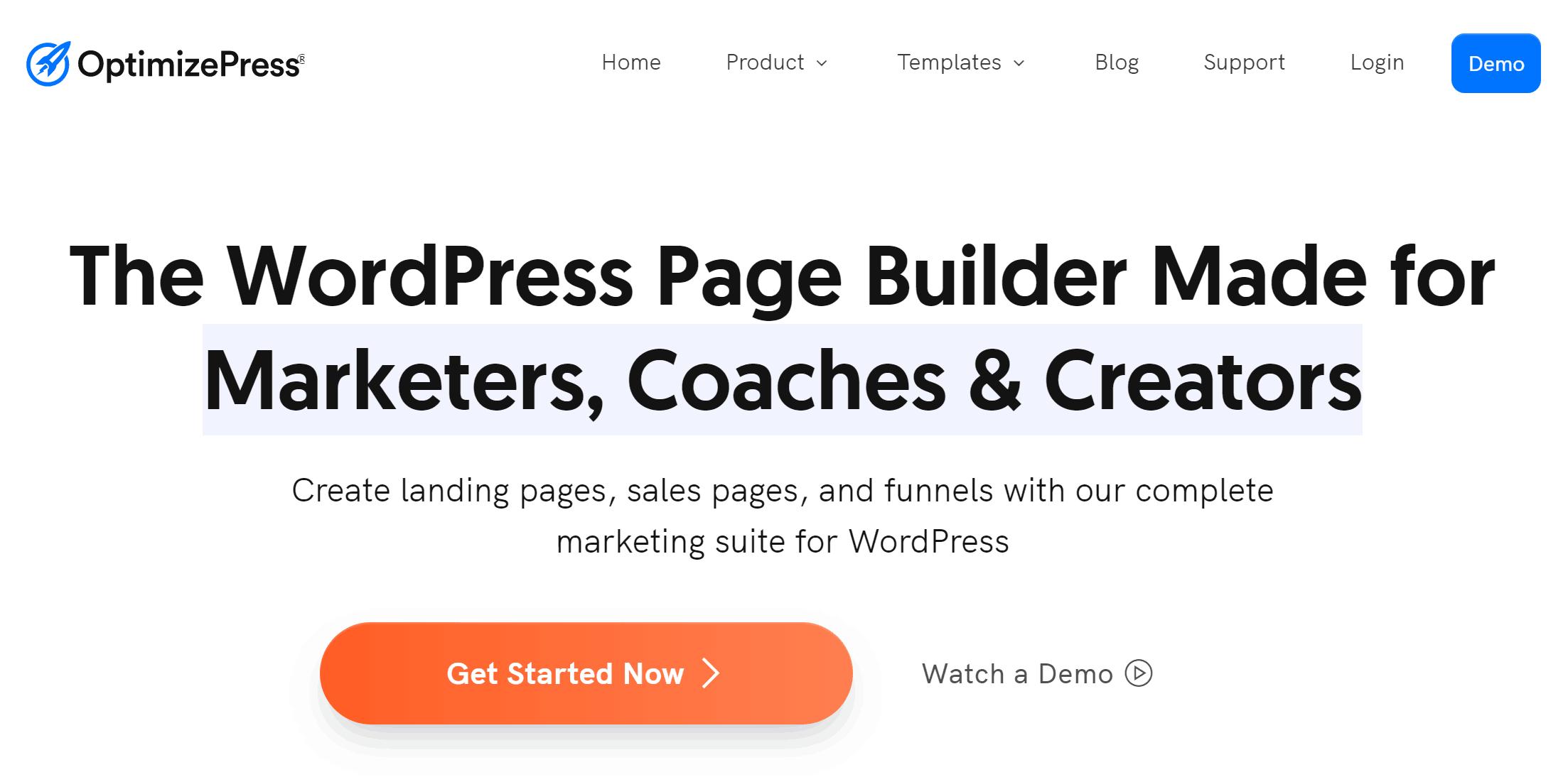 OptimizePress Home Page