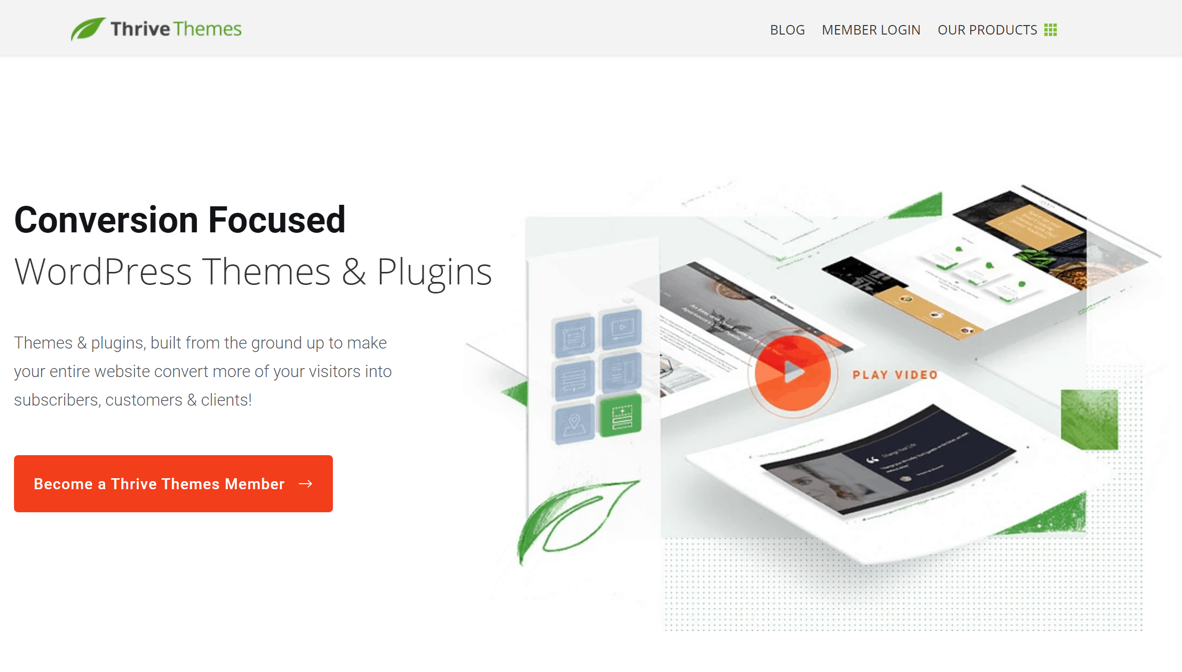 Thrive Themes Home Page
