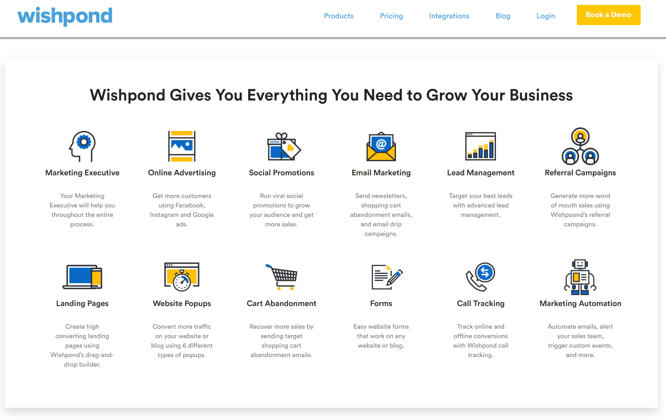 Wishpond Sales Funnel Software Home Page
