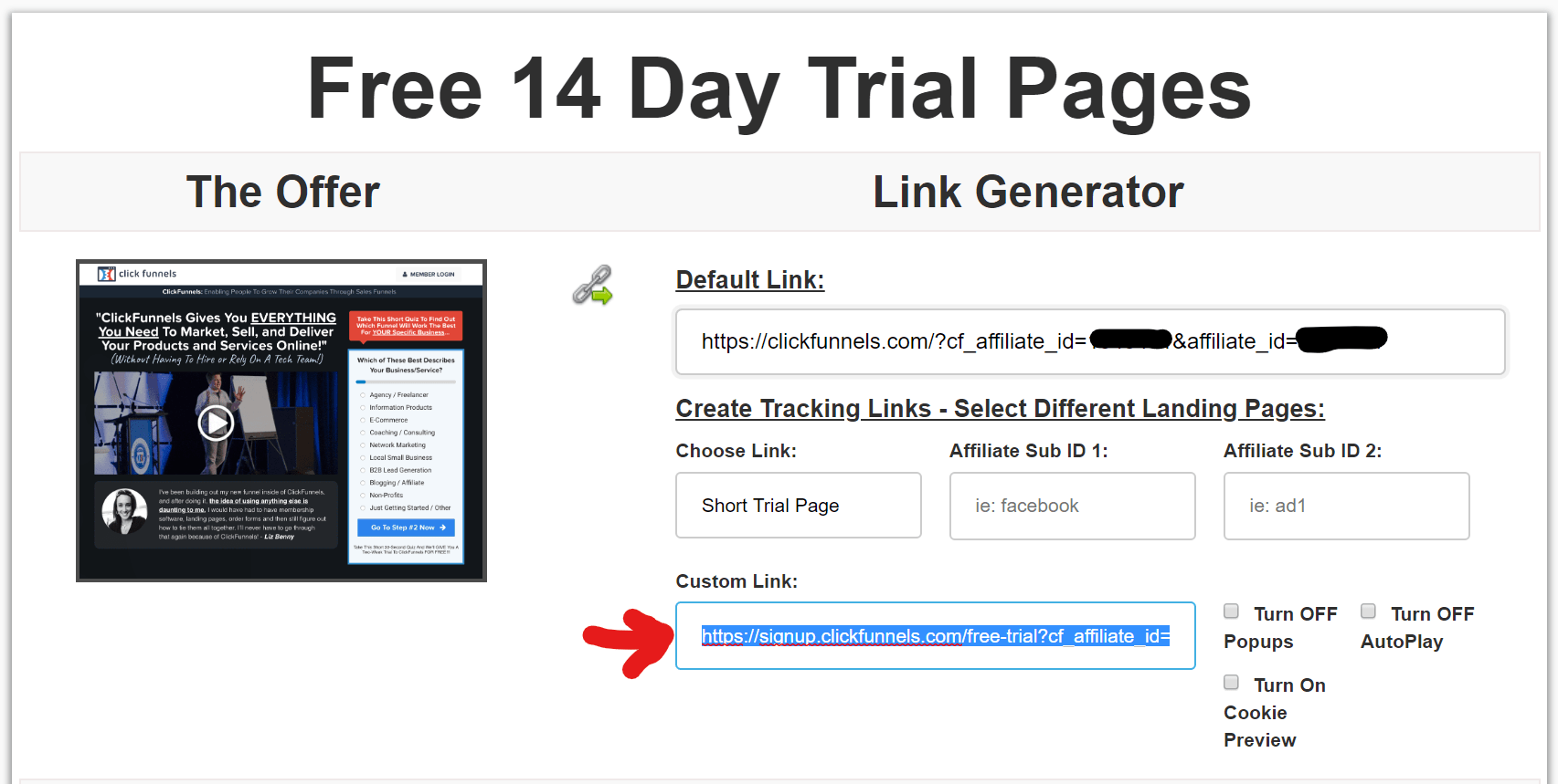ClickFunnels affiliate program link