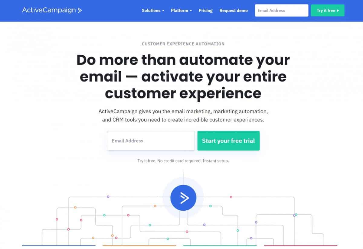 ActiveCampaign Home email newsletter software