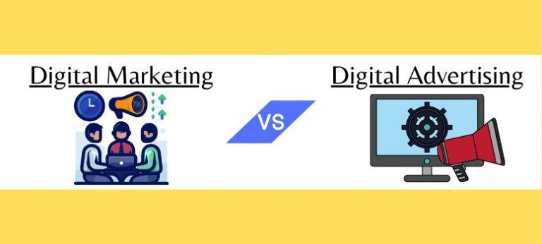 Digital Marketing vs Digital Advertising Wide
