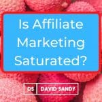 Is Affiliate Marketing Saturated