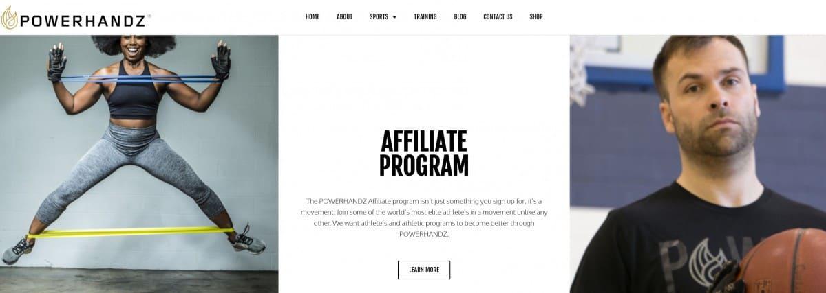 Powerhandz Boxing Affiliate Program Page